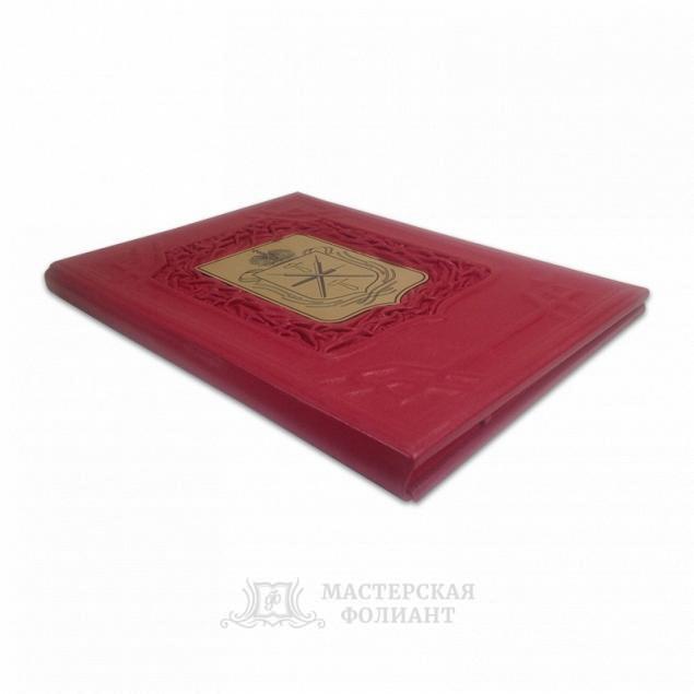 Кожаная адресная папка с гербом города Тулы