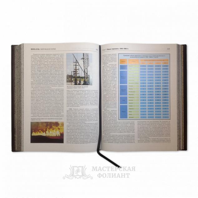Подарочное издание «Нефть и газ. Мировая история. Энциклопедия» с кожаным ляссе